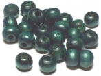 Wooden bead Green-blue round 8mm 30-pack